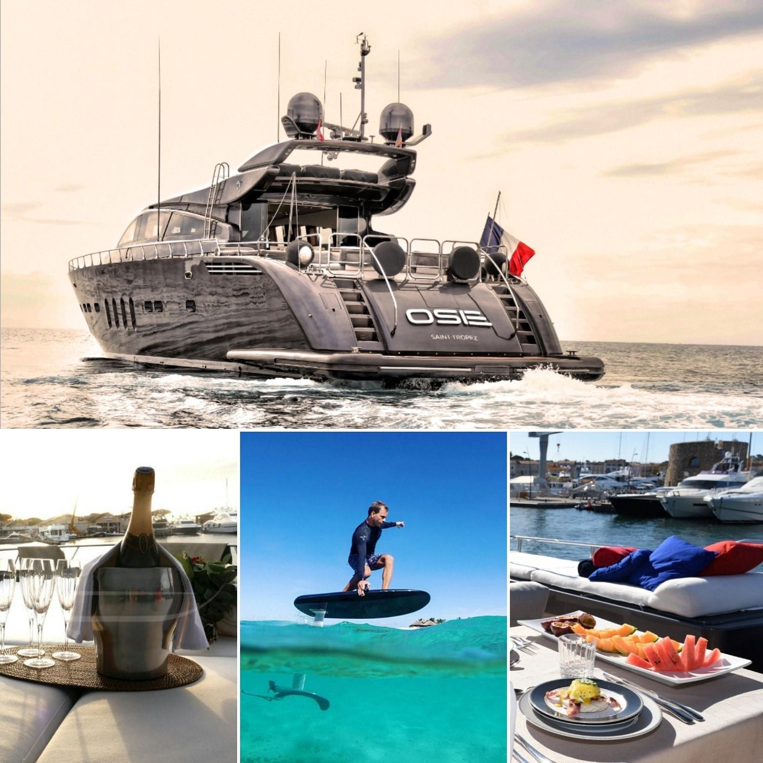 Montage Superyacht Ose service à bord et activités en mer