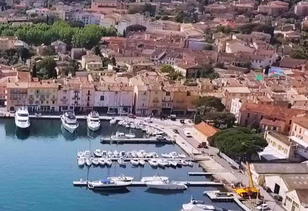 Superyacht Ose vue aérienne Saint-Tropez